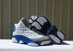 b8e337cf5ac018 Air JORDAN 13 gray blue women basketball shoes Kobe Bryant Nike Air Jordans
