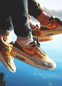 Nike Air Max 1 Atmos 'Safari' (by Bruno Croatto‎) – Sweetsoles – Sneakers, kicks and trainers. On feet.