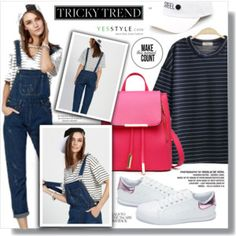 """Tricky Trend: Overalls(YesStyle Polyvore Group """" Show us your YesStyle )"""