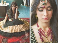 Style shoot by Donne Ashlock Photography. Beautiful Indian bridal makeup and jewelry.