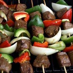 Shish kabobs. Favorite summertime food.