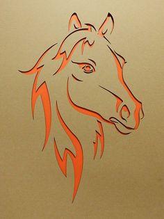 Pferdekopf lasergestanzt Pappkarton Horse head laser-cut cardboard Image Size: 1906 x 2551 Source Stencils, Stencil Art, Stencil Designs, Horse Head, Horse Art, Kirigami, Metal Art, Wood Art, Horse Stencil