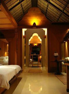 Stylish Interior Design Room at Amankila Villa Hotel in Bali