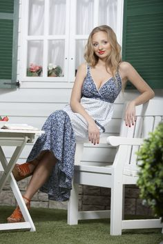 Country-style maxi dress | Full busted dresses | DDAtelier: http://dd-atelier.com/Country-style-maxi-full-busted-dress.html