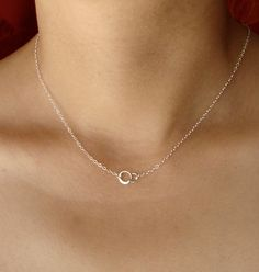 Tiny Forever Linked Together Circles in Sterling by Popsicledrum, $19.00