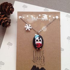 Cute Little Penguin Necklace - Christmas gift ideas