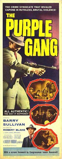 The Purple Gang (1959) Stars: Barry Sullivan, Robert Blake, Elaine Edwards, Marc Cavell, Jody Lawrance, Suzanne Ridgeway, Joe Turkel ~  Director: Frank McDonald