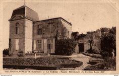 Frankreich - VILLEBOIS LAVALETTE LE CHATEAU FACADE MERIDIONALE DU PAVILLON LOUIS XIV