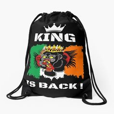 #thekingisback #conormcgregor #ufc #mma #findyourthing #shirtsonline #trends #riveofficial #favouriteshirts  #art #style #design #shopping #redbubble #digitalart #design #fashion #phonecases #customproducts #onlineshopping #accessories #shoponline #onlinestore Backpack Bags, Drawstring Backpack, Conor Mcgregor, Black Edition, My Portfolio, Ufc, Chiffon Tops, King