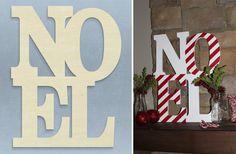 GroopDealz   Oversized Unfinished Noel Decor