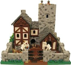 Are you a LEGO Castle fan? Check out the largest LEGO Castle contest for inspiration from the best LEGO Castle builders, or even enter the challenge! Lego Burg, Lego Building, Building Ideas, Building Concept, Amazing Lego Creations, Medieval Houses, Lego Design, Lego Worlds, Lego Architecture
