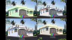 Modern Small House Design, Classic House Design, Village House Design, Village Houses, Kerala, Front Elevation Designs, Exterior Paint, Painting, Architecture