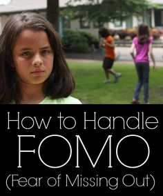 How to Handle FOMO (Fear of Missing Out) #summerlearning #sweepstakes