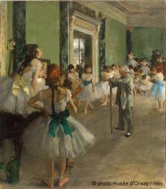 Edgar Degas La classe de danse entre 1873 et 1876 huile sur toile H. 0.855 ; L. 0.75 musée d'Orsay, Paris, France ©photo musée d'Orsay / rmn