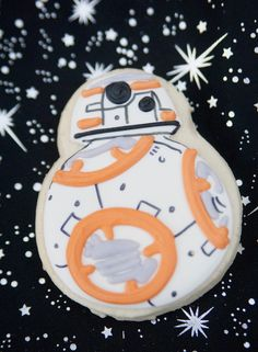 BB-8 Droid cookie from a Star Wars Birthday Party on Kara's Party Ideas | KarasPartyIdeas.com (30)