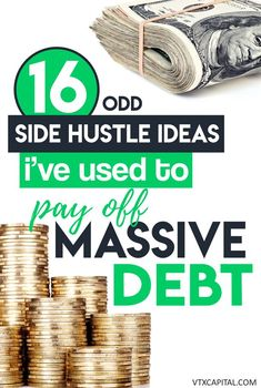 16 odd (but legitimate) ways I paid off over $100,000 in student loan debt and made extra cash on the side. #sidehustle