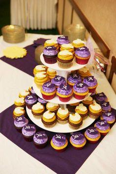 Purple and Yellow Baby Shower  brownbettybakery.com