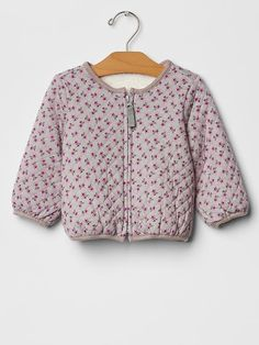 Quilted floral sherpa-lined jacket Product Image