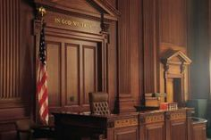 Interior of American courtroom - Cornstock/Stockbyte/Getty Images