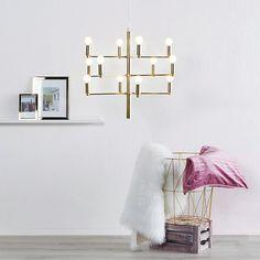 Messingfarget lysekrone Tadina, 12 lys Home Decor Decals, Home Decor, Inspiration, Decor