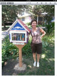 John and Kathryn Basco. Downers Grove, IL. Being a native of Madison WI Kathryn was excited when she first heard of the Free Little Library program! Living on a block where people and families are more friends than just neighbors our Library has already gotten much attention. It was great fun building and I've gotten many requests to build more. Little Library, Little Free Libraries, Free Library, Library Inspiration, Library Ideas, Library Books, Downers Grove, Library Programs, Community Building