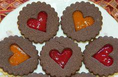 """Dva recepty na kakaové variace na linecké plněné pečivo. Oba recepty jsou velmi podobné, jen jeden je více """"kakaovější"""" :)"""