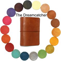 """Midori Travelers Notebook Cover WIDE SIZE """"Dreamcatcher"""" Leather Journal Fauxdori Build your own journal Design your own Travelers Notebook New Item from Leather Planners Plus"""