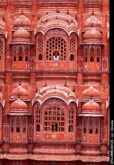 Rajasthani man viewing from window of Hawa Mahal Palace of wind , Jaipur, Rajasthan . Indian Architecture, Ancient Architecture, Beautiful Architecture, Architecture Details, Places Around The World, Around The Worlds, Palace Interior, Amazing India, History Of India