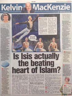 Kelvin MacKenzie's Sun Column On Islam And The Paris...: Kelvin MacKenzie's Sun Column On Islam And The Paris Attacks Is… #KelvinMacKenzie
