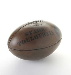 Vintage Leather Rugby Ball @ BaileysHomeAndGarden