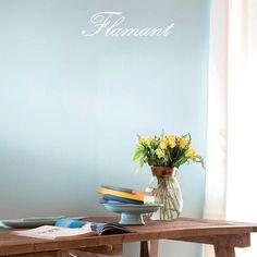 La sixième et dernière #couleur à s'ajouter à la gamme #Flamant par #Tollens est #Océane, un #bleu clair, légèrement verdi, à la #douceur lumineuse.