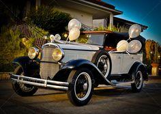Old Wedding Car
