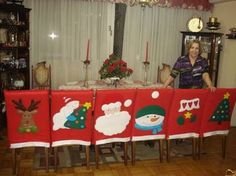 Resultado de imagen para capas de cadeiras natalinas