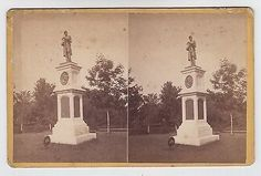 Soldier's Monument, Albany Rural Cemetery Views, 1876 Real Photo Stereoview (05/26/2014)
