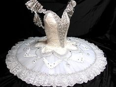 This regal costume is suitable for high level ballet performances and competitions. it can be worn for roles such as Cinderella, Sleeping Beauty, Macha in Nutcracker, Snow Queen, Paquita and many othe