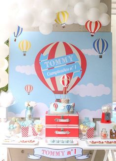 Dessert Table from a Hot Air Balloon Birthday Party via Kara's Party Ideas | KarasPartyIdeas.com (19)