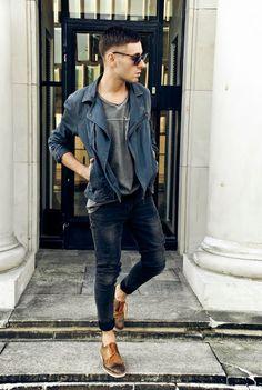 Azules y grises: Comodines en cualquier guardarropa masculino!
