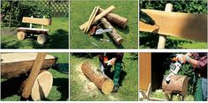 Fab Art DIY Rustic Log Decorating Ideas for Home and Garden29