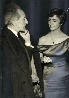 Jean Cocteau et Françoise Sagan (1950s).