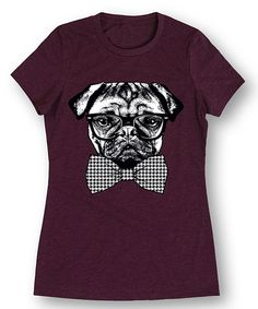 Look at this Wine Bowtie Pug Tee on #zulily today!