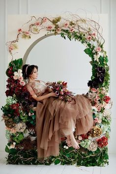 70 elegant wedding decorations for your big day 12 - Beauty of Wedding Wedding Wreaths, Wedding Flowers, Wedding Decorations, Wedding Backdrops, Deco Floral, Arte Floral, Elegant Wedding, Dream Wedding, Photowall Ideas