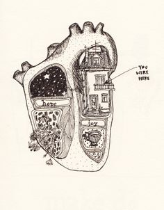 Art and illustrations of the human anatomy. Heart Art, Art Inspo, Art Drawings, Music Drawings, Pencil Drawings, Cool Art, Art Photography, Illustration Art, Landscape Illustration