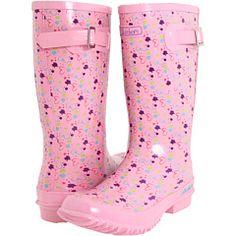 SKECHERS KIDS Rainboot w/ Paint Splatter (Toddler/Youth) Pink - 6pm.com