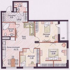 Картинки по запросу идеальная планировка трехкомнатной квартиры