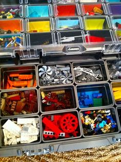 Do your kids love Legos? Here's an easy way to sort them by size and by color! #ad