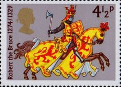 Great Britons 4.5p Stamp (1974) Robert the Bruce