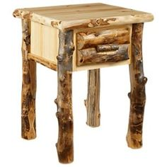 Natural Wood Bedroom Furniture Collection Nightstand
