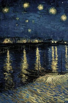 Starry Night Over the Rhone, 1888 Vincent Van Gogh