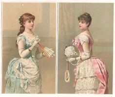 Victorian Scrap 2 Pcs Glove Box Lady Fancy Dress (02/27/2011)