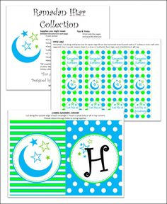 Free Ramadan Printable Cupcake Toppers and Treat Labels Eid Crafts, Ramadan Crafts, Ramadan Decorations, Ramadan Activities, Circle Crafts, Eid Party, Islam For Kids, Eid Al Fitr, Islamic Images